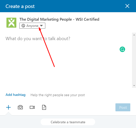 LinkedIn Company Page Toggle Post Commenting