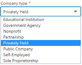 LinkedIn Company Page Company Type