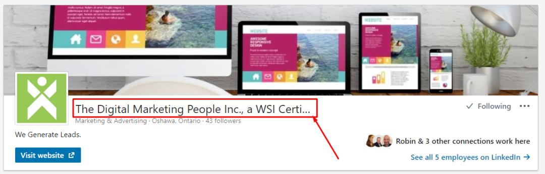 LinkedIn Company Name