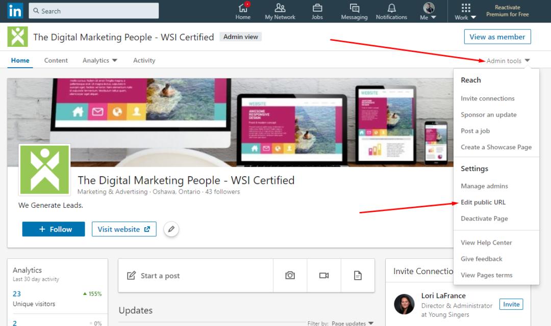 LinkedIn Company Page Custom URL