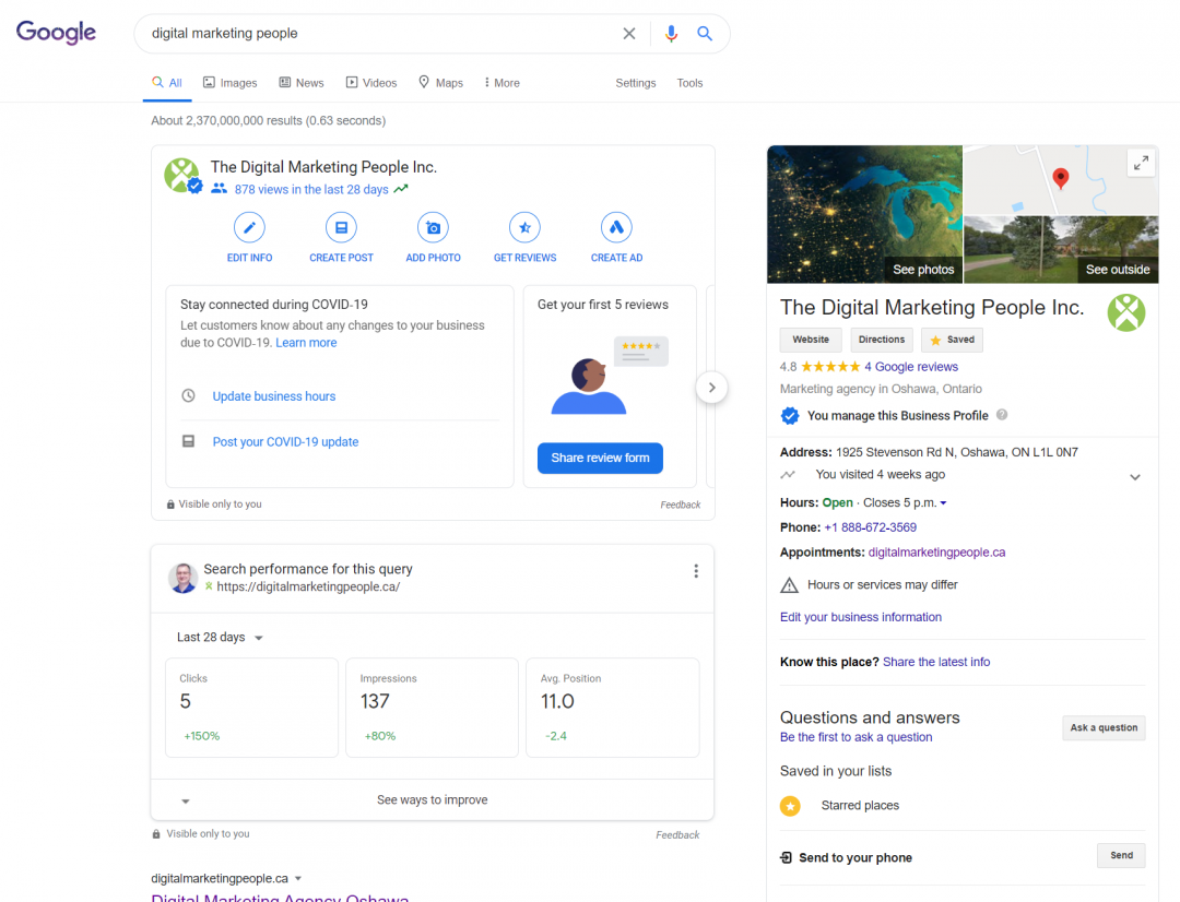 TDMP Google Search result page